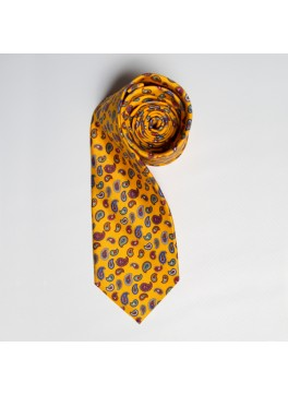 Yellow Multi Paisley Tie