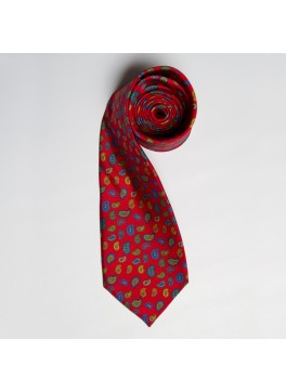 Red Multi Paisley Tie