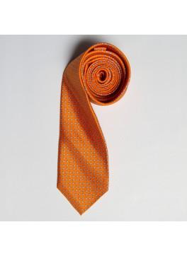 Orange/Blue Tiny Paisley Skinny Tie
