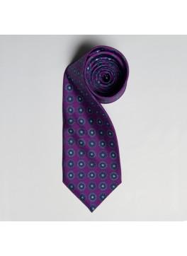 Purple/Grey Medallion Tie