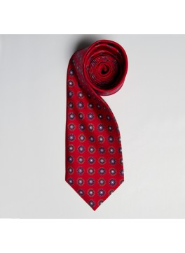 Red/Navy Medallion Tie