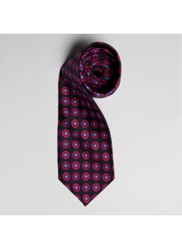 Black/Berry Medallion Tie