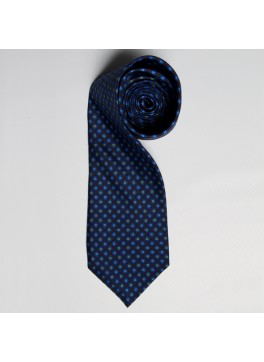 Navy/Light Blue/Green Floral Medallion Tie
