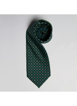Green/Blue/Lavender Floral Medallion Tie