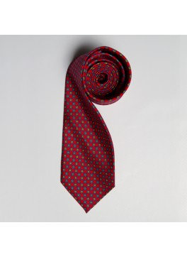 Red/Blue/Orange Floral Medallion Tie