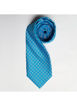 Teal/Orange Floral Print Tie
