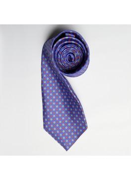 Periwinkle/Orange Floral Print Tie
