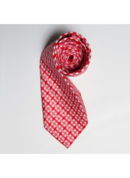 Red/Pink Watercolor Plaid Tie