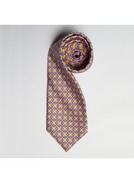 Blue/Yellow Circle Print Tie