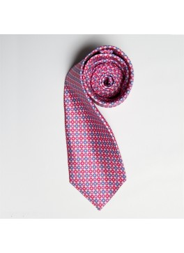Light Pink/Blue Circle Print Tie