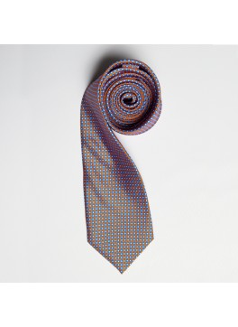 Orange/Blue Tiny Squares Skinny Tie