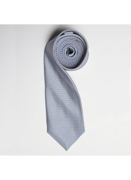 Grey/Blue Tiny Squares Skinny Tie