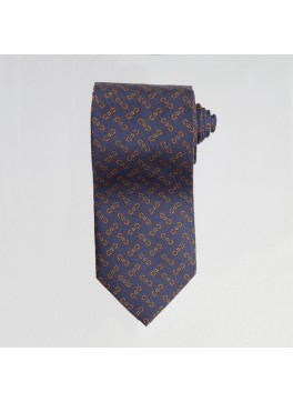 Navy English Bit Tie