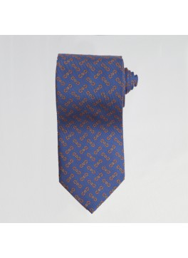 Blue English Bit Tie