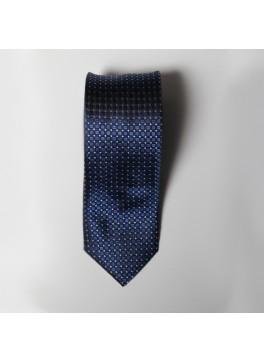 Navy Box Check Tie