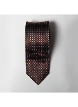 Brown Box Check Tie