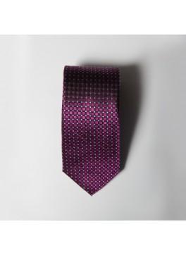 Fuschia Box Check Tie
