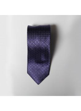 Purple Box Check Tie