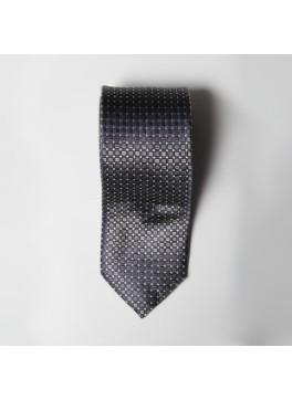 Grey Box Check Tie