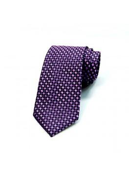 Purple Check Tie