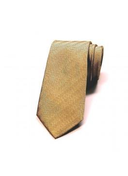 Yellow Herringbone Tie