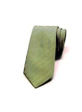 Green Herringbone Tie