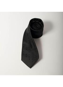 Black Tonal Square Dot Tie