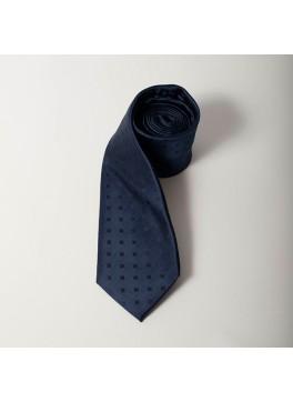 Navy Tonal Square Dot Tie