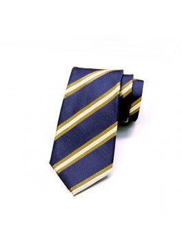 Navy/Tan Stripe Tie