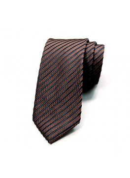Brown/Blue Stripe Tie