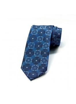 Dark Blue/Brown Jacquard Tie