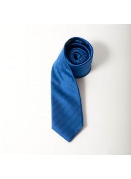 Blue Stripe Skinny Tie