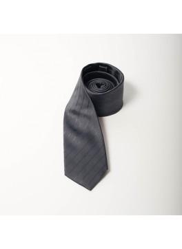 Grey Stripe Skinny Tie
