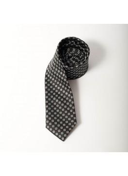 Black/Grey Jacquard Tie