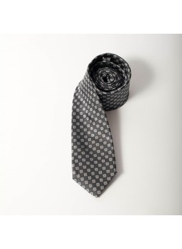 Charcoal/Grey Jacquard Tie