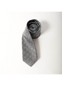 Grey/Charcoal Jacquard Tie