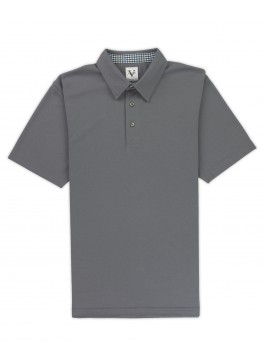 Hampton - Machine Grey Lightweight Pique
