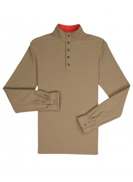 Mock Collar Pullover - New Khaki Comfort Pique