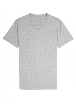 V-Neck Tee - Heather Grey Jersey