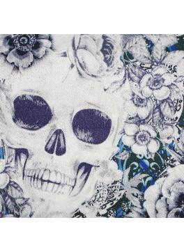 Blue Floral Skulls (SV700617)
