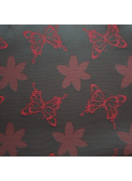 Red Green Butterfly Jacquard (YZ036)