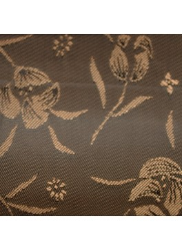 Brown Flower Jacquard (YZ083)
