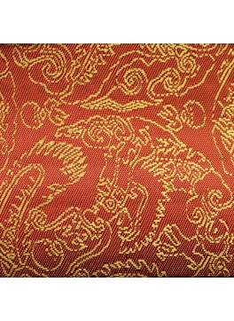 Orange Paisley Jacquard (YZ094)