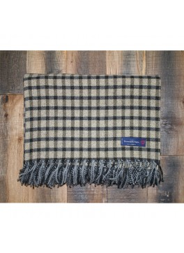 Tan and Chocolate Plaid Ermenegildo Zegna 100% Cashmere Throw