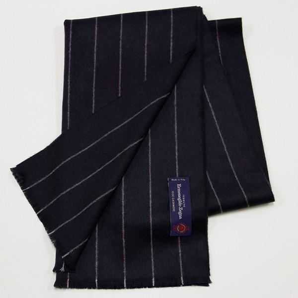 Blue Pinstripe, 100% Cashmere