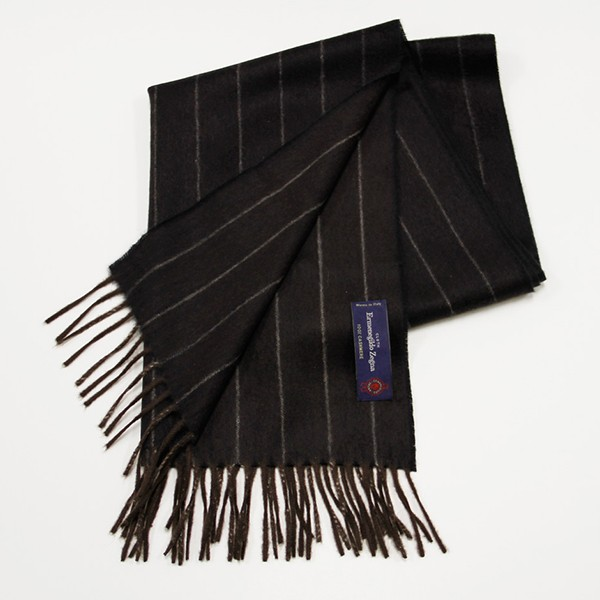 Brown Pinstripe, 100% Cashmere