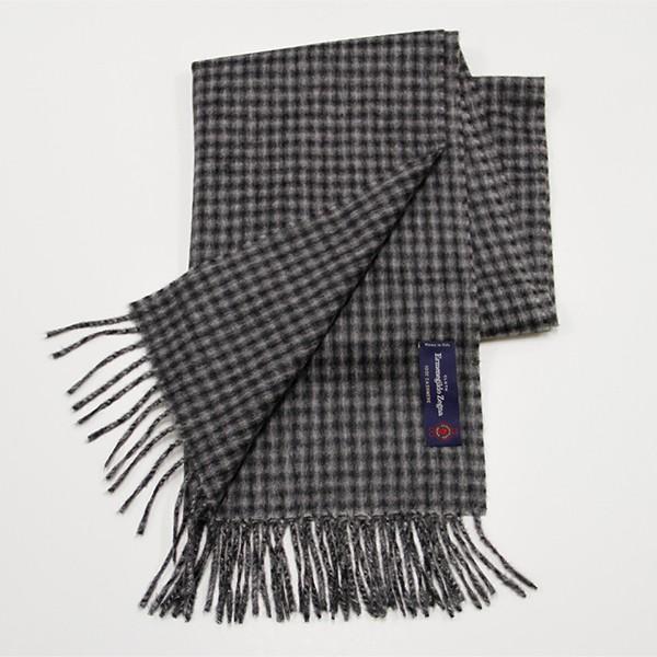 Grey/Black Check, 100% Cashmere