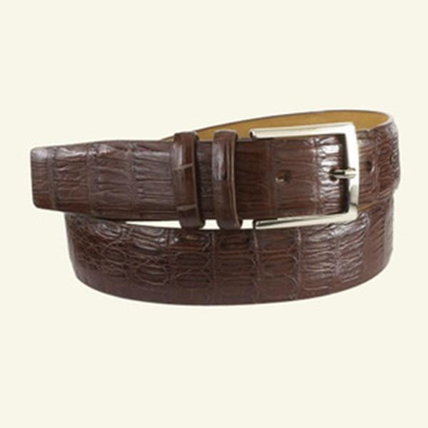 "Caiman Crocodile Belt 1⅜"" Width"