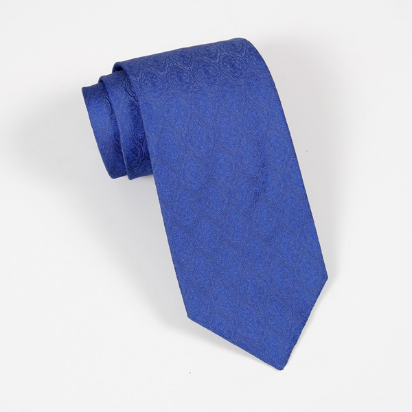 Blue Tone on Tone Jacquard Tie