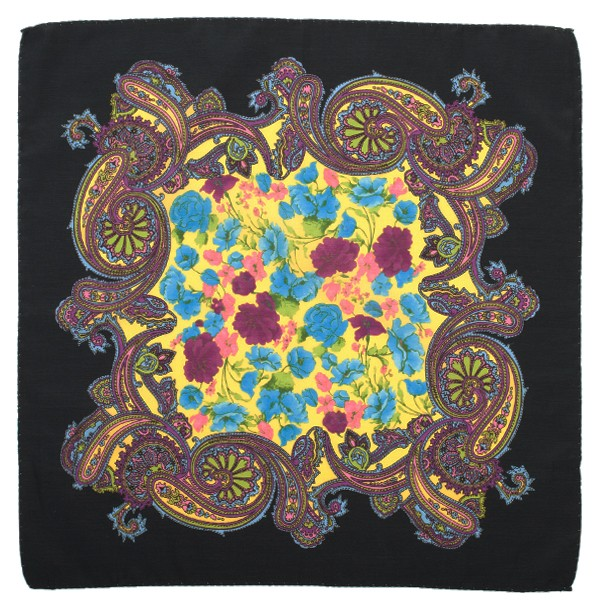 Paisley Floral Pocket Square